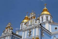 St Michaels Golden Domed Monastery em Kiev, Ucrânia fotos de stock royalty free
