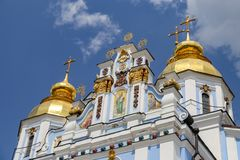 St Michaels Golden Domed Monastery em Kiev, Ucrânia fotografia de stock royalty free
