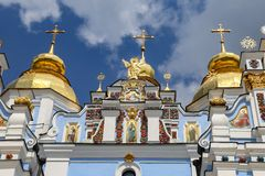 St Michaels Golden Domed Monastery em Kiev, Ucrânia foto de stock