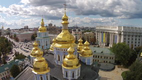 St. Michaels Golden-Domed Monastery, Ukraine stock footage