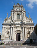 Лёвен - барочный фасад церков St. Michaels (Michelskerk) стоковое изображение rf