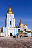 St. Michael's Monastery, Golden Domes in Kyiv Royalty Free Stock Images