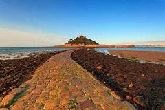 St Michaels Mount cobbled causeway Stock Photo