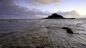 St. Michaels Mount in Cornwall stock footage
