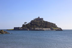 St Michaels Mount Cornwall England. St Michaels Mount at Marizion Cornwall England isolated by the high tide Royalty Free Stock Images