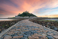 St Michaels Mount i Cornwall Arkivfoton