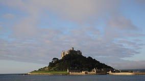 St Michaels Mount kasteel Cornwall Engeland het UK stock videobeelden