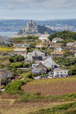 St Michaels mount looking past perranuthnoe Royalty Free Stock Photos