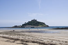 St Michaels Mount at Low Tide Royalty Free Stock Images