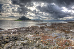 St Michaels Mount Marazion Cornwall England on a dull overcast day Royalty Free Stock Photography