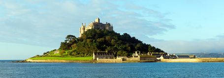 St Michaels Mount Marazion Cornwall England. Medieval castle and church in Mount's Bay Royalty Free Stock Photos