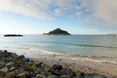 St Michaels Mount medieval castle on island Cornwall England Royalty Free Stock Images