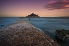 St Michaels Mount. St Michael's Mount, Marazion, Cornwall, England, at dusk Royalty Free Stock Image