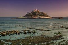 St Michaels Mount. St Michael's Mount, Marazion, Cornwall, England, at dusk Stock Image