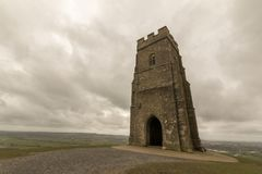 St Michaels Tower, Glastonbury Tor. St Michaels Tower sits on top of Glastonbury Tor in Somerset Stock Photography