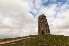 St Michaels Tower, Glastonbury Tor, Somerset. St Michaels Tower sits on top of Glastonbury Tor in Somerset Stock Photo