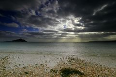St Michaels zet West-Cornwall het UK op Stock Afbeelding