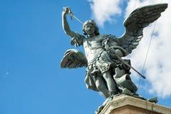 St- Michaelstatue auf Castel Sant-` Angelo in Rom Lizenzfreies Stockbild