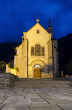 St. Michel baroque church in Chamonix Royalty Free Stock Photos