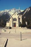 St. Michel church in Chamonix, France Royalty Free Stock Photo