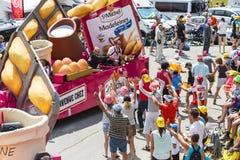 St Michel Madeleines Caravan in Alpen - Ronde van Frankrijk 2015 Royalty-vrije Stock Foto's