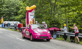 St Michel Madeleines Vehicle in de Vogezen-Bergen - Ronde van Frankrijk Stock Afbeeldingen