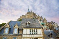 St. Michel van Mont abdij Stock Foto