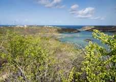St Michiel and Boca Sami. A beautiful lake on the island of Curacao Royalty Free Stock Image