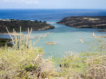 St Michiel and Boca Sami. A beautiful lake on the island of Curacao Royalty Free Stock Photo