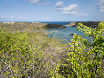 St Michiel and Boca Sami. A beautiful lake on the island of Curacao Stock Image