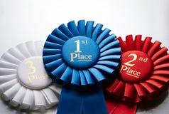 1st miejsce zwycięzców odznaka lub różyczka Fotografia Stock
