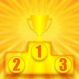 1st miejsce zwycięzca Obraz Royalty Free