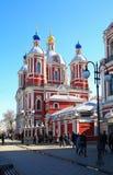 St milde Kerk Moskou, Rusland Royalty-vrije Stock Afbeeldingen