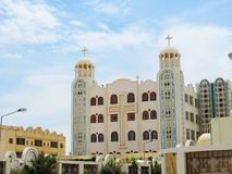 St. Mina Cathedral at Egypt. St. Mina Cathedral Egypt Stock Image