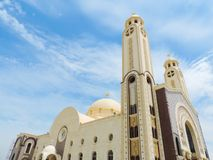 St. Mina Cathedral at Egypt. St. Mina Cathedral Egypt Royalty Free Stock Images