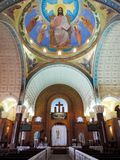 Inside St. Mina Cathedral at Egypt. St. Mina Cathedral Egypt Stock Images