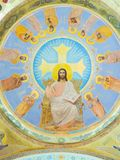 Jesus painting inside St. Mina Cathedral at Egypt. St. Mina Cathedral Egypt Royalty Free Stock Photos