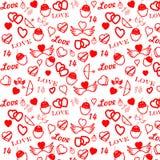 St. Modelo inconsútil del día de tarjeta del día de San Valentín Fotografía de archivo libre de regalías