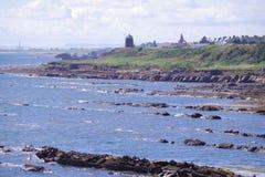 St Monan ` s od piszczałki Nabrzeżnej ścieżki Zdjęcie Stock
