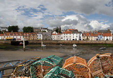 St Monans Harbour. St Monans is a village in the East Neuk of Fife and is named after the legendary Saint Monan Royalty Free Stock Photography
