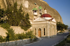 St. Monastério clemente da caverna de Inkerman Fotos de Stock Royalty Free