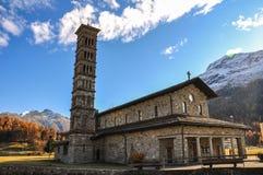 St.Moritz坏的St.卡尔教会在瑞士 免版税库存照片