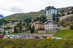 ST Moritz, Ελβετία Στοκ φωτογραφία με δικαίωμα ελεύθερης χρήσης