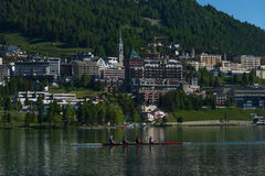 ST Moritz, Ελβετία Στοκ Φωτογραφία