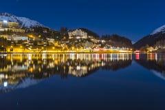 ST Moritz στην Ελβετία Στοκ Εικόνες