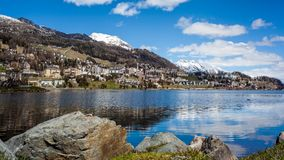 St. Moritz. View of St. Moritz, Switzerland in spring Stock Images