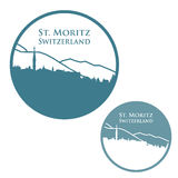 St. Moritz badge Stock Photos