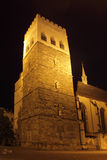 St Moritz church in Olomouc. The tower of Saint Moritz church in Olomouc at night, Czech Republic Royalty Free Stock Photography