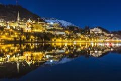 St Moritz in der Schweiz Lizenzfreies Stockfoto