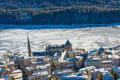 St.Moritz Dorf Royalty Free Stock Photos